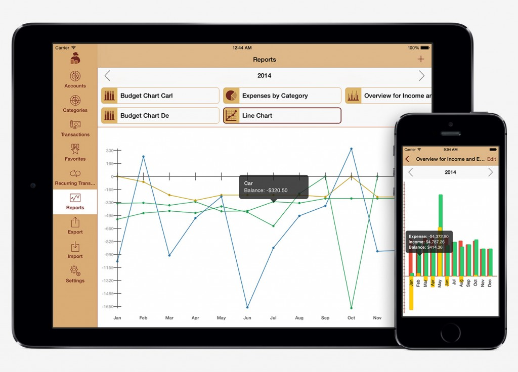 MoneyStats Feature: Reports
